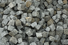 Asphalt gravel. A shot take in the process of the construction of a road. Gravel surface used for asphalt Stock Photo