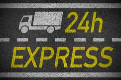 Asphalt with 24 h express delivery royalty free illustration