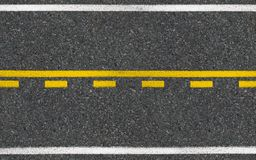 Asphalt high way road top view Royalty Free Stock Images