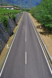 Asphalt highway. Dual carriageway with white stripes and black asphalt Stock Images