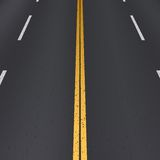 Asphalt highway perspective view. Royalty Free Stock Photo