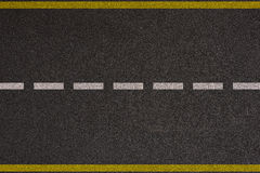 Asphalt highway with road markings Royalty Free Stock Photos