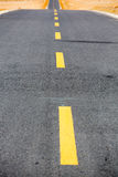 Asphalt highway with road markings background Stock Image