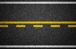Asphalt highway with road markings texture. Asphalt highway with road markings background Royalty Free Stock Photos