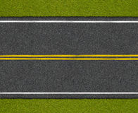 Asphalt highway road with roadside top view. Asphalt highway road with grass roadside top view royalty free stock photos