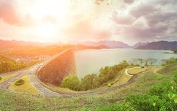 Asphalt highway in Thailand Royalty Free Stock Photo