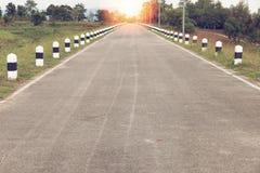 Asphalt highways road in rural scene, transport and traveling b Stock Images