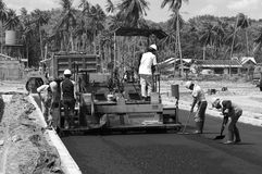 Asphalt installation Royalty Free Stock Photography