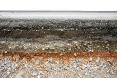 Asphalt layer road Stock Image