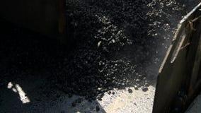 Asphalt laying machine. stock video footage
