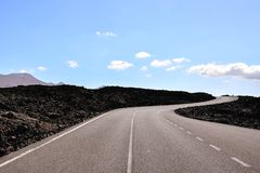 Asphalt Lonely Road Stock Image
