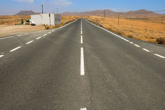 Asphalt Lonely Road Royalty Free Stock Image