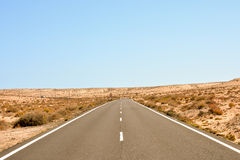 Asphalt Lonely Road Royalty Free Stock Images