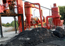 The asphalt machine Royalty Free Stock Photos