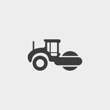 Asphalt machine icon in a flat design in black color. Vector illustration eps10 Royalty Free Stock Photography