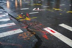 Asphalt in Manhattan, New York City Lizenzfreies Stockbild