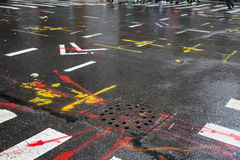Asphalt in Manhattan, New York City Lizenzfreies Stockfoto