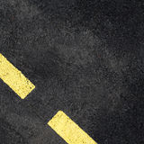 Asphalt with a marking in the background Stock Image