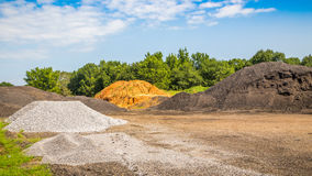 Asphalt Material Pit Imagem de Stock