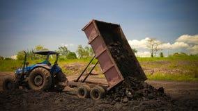 Asphalt mining in the Pitch Lake, La Brea, Trinidad and Tobago Stock Photo