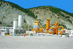 Asphalt mixer plants. Movable asphalt mixer plants in Turkey royalty free stock photo