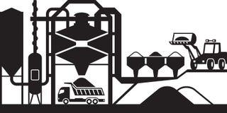Asphalt mixing plant. Vector illustration stock illustration