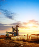 Asphalt mixing plant Stock Images