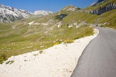 Asphalt mounatin route - montenegro Stock Photos