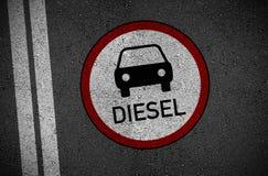 Diesel ban and diesel manupilation in germany royalty free illustration