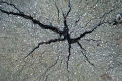 Asphalt pavement with cracks Royalty Free Stock Images