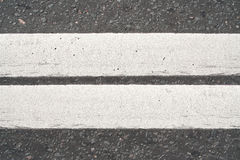 Asphalt pavement with a marking Stock Photography