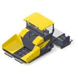 Asphalt paver detailed icon. Asphalt paver detailed isometric icon vector graphic illustration Royalty Free Stock Image