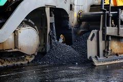 Asphalt paver machine Stock Image