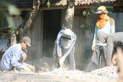 Asphalt paver repairing Stock Image