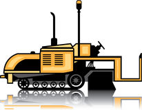 Asphalt paver vector. Illustration clip-art eps Stock Photos