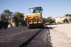 Asphalt paving Royalty Free Stock Photo