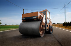 Asphalt paving machine Stock Photos