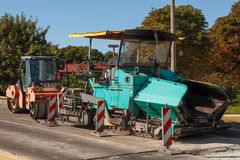 Asphalt paving machines Royalty Free Stock Photos