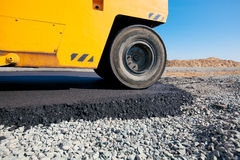 Asphalt paving works Stock Image