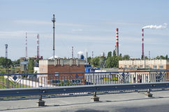 Asphalt plant in Gomel Royalty Free Stock Photo