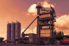 Asphalt plant Royalty Free Stock Photo