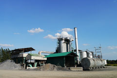 Asphalt plant , thailand Stock Photo