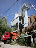 Asphalt plant in Ukraine Royalty Free Stock Photos