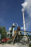 Asphalt plant in Ukraine Royalty Free Stock Photo