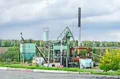 Asphalt plant in Ukraine Royalty Free Stock Image