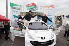 Asphalt Rally Cup Liburna, Agostinelli Stock Image