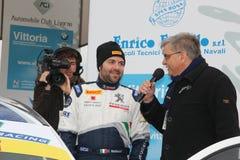 Asphalt Rally Cup Liburna, Matteucci 3 ° Stock Photography