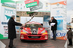 Asphalt Rally Cup Liburna, winner team Stock Images