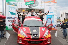 Asphalt Rally Cup Liburna, winner team Stock Photos