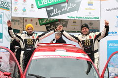 Asphalt Rally Cup Liburna, winner team Royalty Free Stock Photo